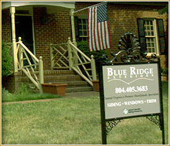 blue ridge exteriors richmond contractor sign