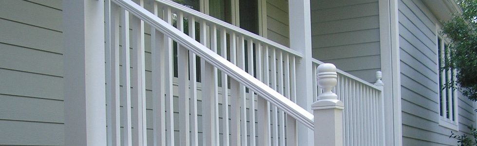 White Powder Coated Railing