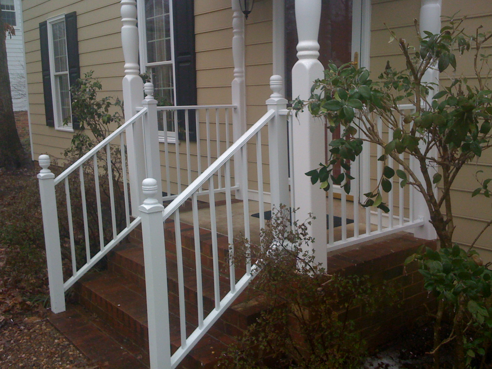 Home Railing Richmond Va Porch And Hand Rails Blue